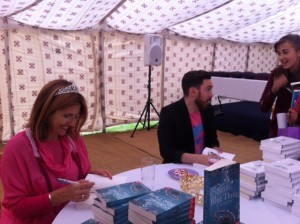 Signing books with our new Queen